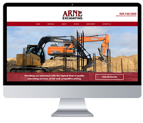Custom Responsive Website Design for an Excavation Company