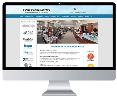 Custom Responsive Website Design for a Public Library