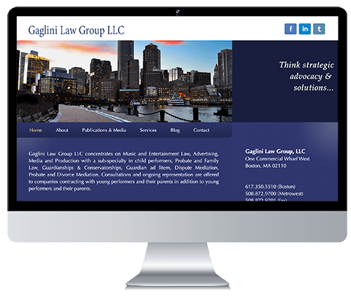 Custom Responsive Website Design for an Entertainment Law Firm