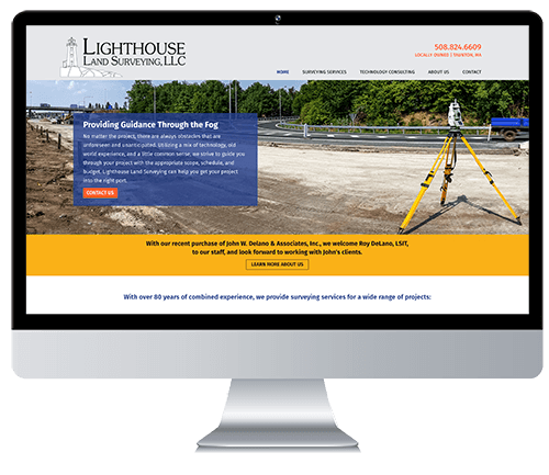 Custom Responsive Website Design for Land Surveying Company