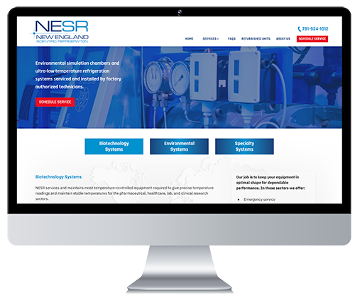 Custom Responsive Website Design for an Authorized Service Provider