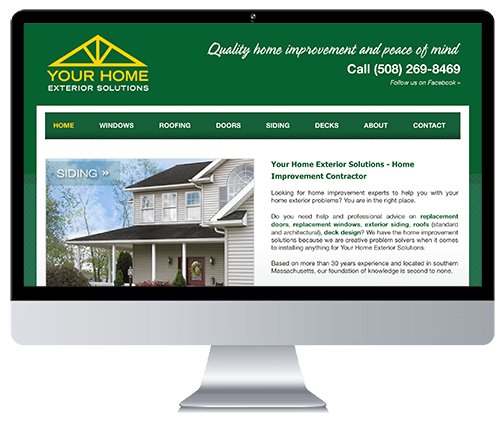 Custom Responsive Website Design for a Roofing Company
