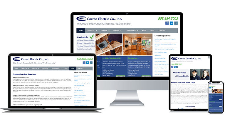 Custom Responsive Website Design for an Electrical Contractor