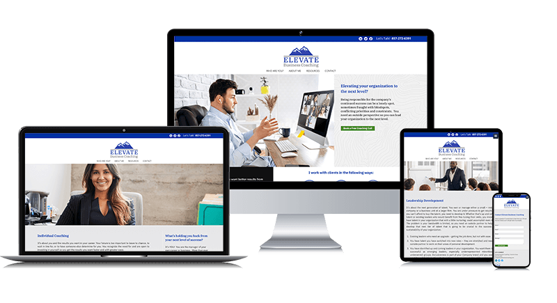 Custom Responsive Website Design for a Professional Business Coach