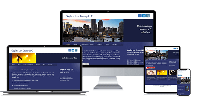 Gaglini Law Firm Website