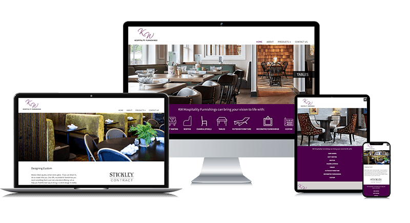 Custom Responsive Website Design for a Hospitality Furnishings Company