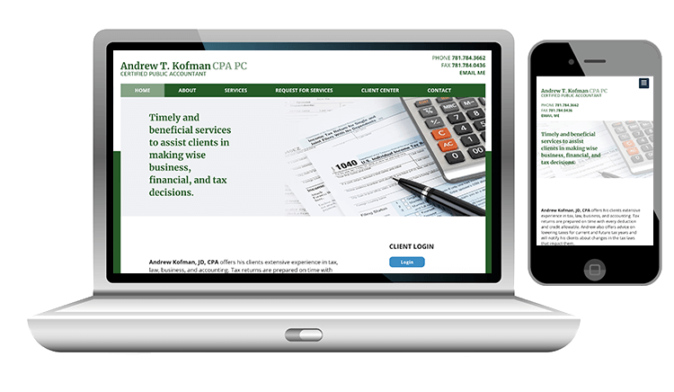 website design for public accountant