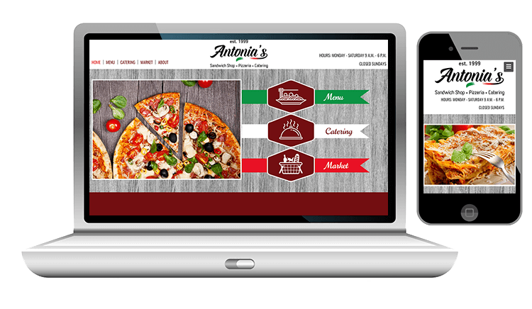 Desktop Website Design and Mobile Website Design for an Italian Restaurant