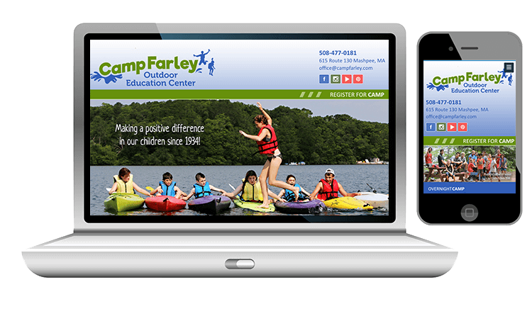 website design for summer camp