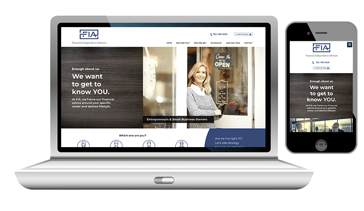 Custom Financial Advisor Website Design
