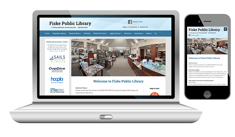 website design for public library