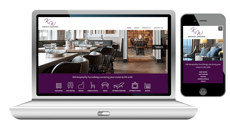 Custom Hospitality Furnishings Website Design