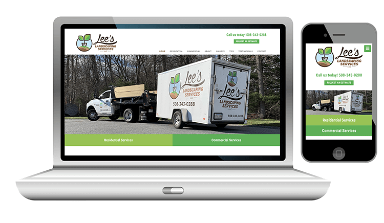 website design for landscaping services