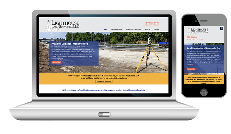 Desktop Website Design and Mobile Website Design for Land Surveying Company