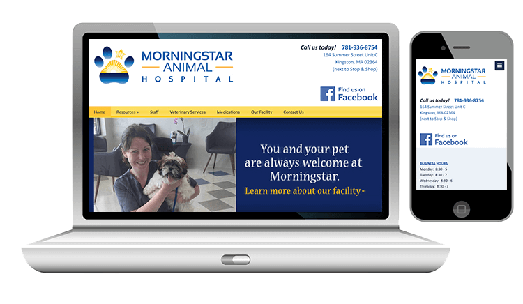 website design for animal hospital