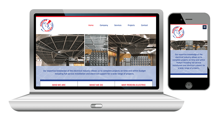 website design for electrician company