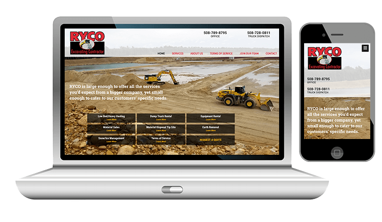 website design for excavtion company