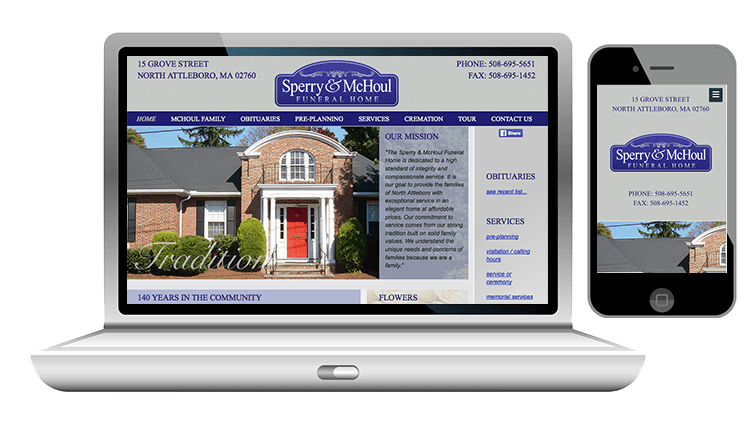 website design for funeral home