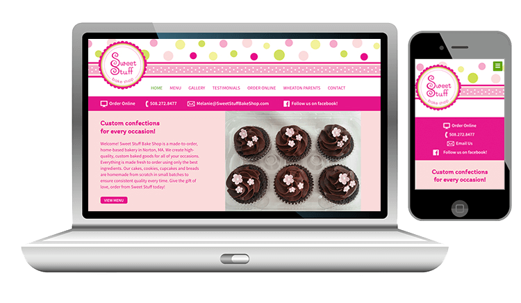 Custom Cake Shop Website Design
