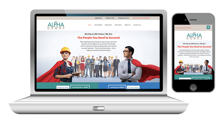 website design for staffing firm